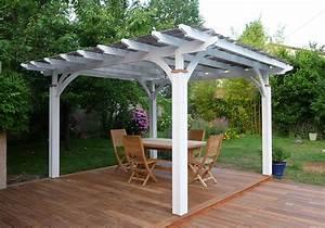 Construire Pergola Bois : awesome pergola bois couverte pictures ~ Preciouscoupons.com Idées de Décoration