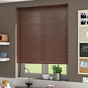 Plain Light Grey Curtains Essence Nut Brown Venetian Blind 25mm Slat