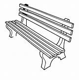 Bench Clipart Outline Clip Press Library sketch template