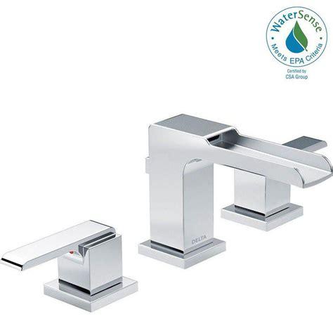 home depot delta ara faucet delta ara 8 in widespread 2 handle bathroom faucet with