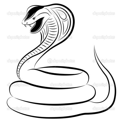 The Gallery For Cobra Snake Drawing