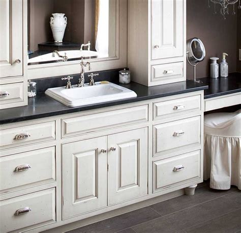 bathroom cabinets and countertops semi custom bathroom cabinets with white color and black