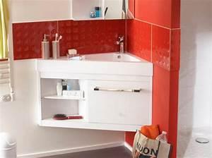 40 meubles pour une petite salle de bains elle decoration With porte de douche coulissante avec vasque salle de bain avec meuble castorama