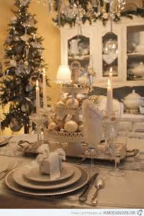 tree chandelier 20 christmas table setting design ideas home design lover