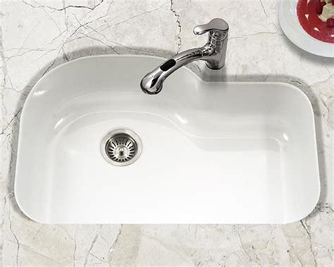 white enamel kitchen sink houzer porcelain enameled steel kitchen sinks 1293