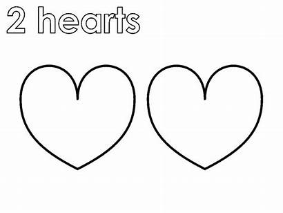 Shape Hearts Coloring Pages 2hearts Coloringpages4u