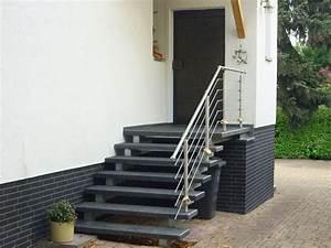 Geländer Treppe Aussen : treppe aussen haus eingang podest naturstein granit beton stufe tritt schwarz ebay ~ A.2002-acura-tl-radio.info Haus und Dekorationen