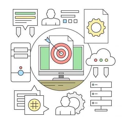 icone de bureau gratuit éaire style icône minimal et éléments de bureau