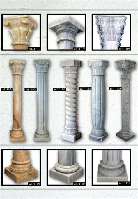 columnas en piedra natural marmol  otros materiales