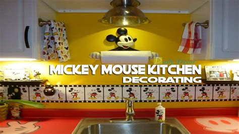 daily decor mickey mouse kitchen decorating ideas youtube