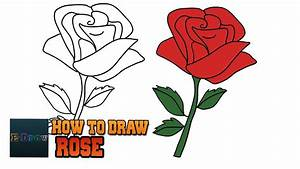 How to Draw a Rose Easy step by step drawing lessons ...