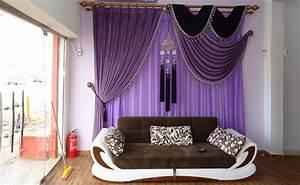 Vorhänge Zum Schieben : lila gardinen f r das wohnzimmer foto ~ Sanjose-hotels-ca.com Haus und Dekorationen