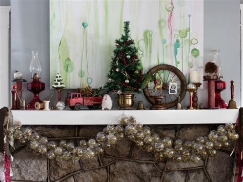 christmas mantel decorating ideas hgtv