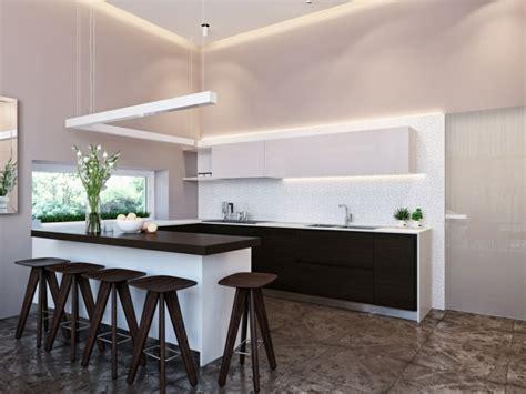 cuisine carrelage noir et blanc meuble séparation cuisine salon en plus de 55 idées