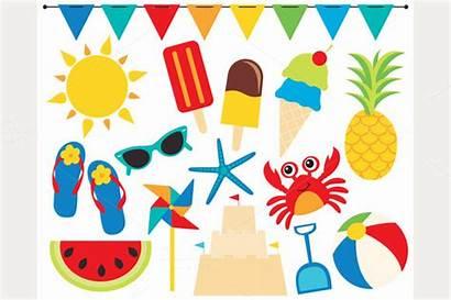 Summer Clipart Beach Clip Summertime Ball Cliparts