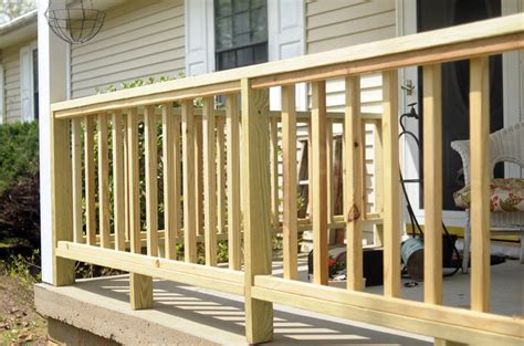deck railing ideas wood how to manage the front porch railing of your house