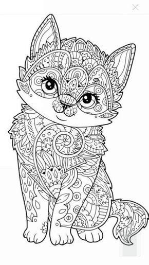 Cute kitten coloring page | Artists Toolboxes | Adult