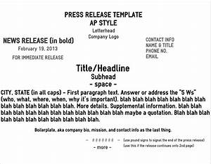 five pro tips for a rockin news release brave little nib With ap press release template