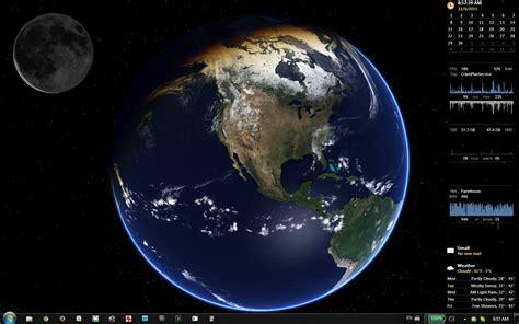 desktop earth rainmeter moonphase rainmeter