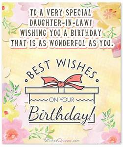 Birthday Wishes... Daughter In Law