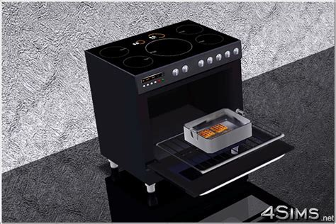 Electric range cooker for Sims 3   4Sims