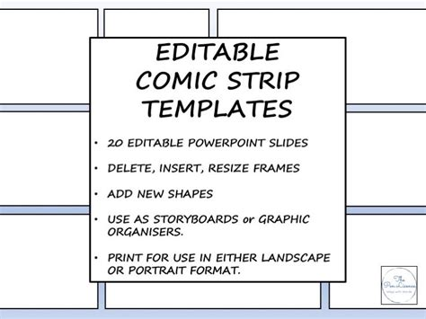 Editable Comic Strip Templates By Thepenlicence