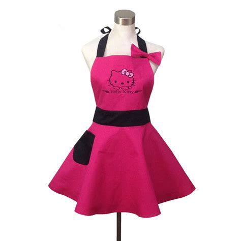 pink hello kitchen apron for avental de cozinha divertido tablier cuisine