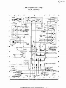 1987 Daytona Shelby Z Fuse Diagram