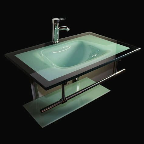 shop kokols usa aqua green integral single sink bathroom