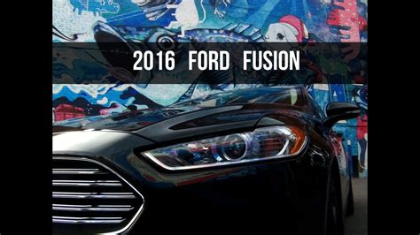 2016 Ford Fusion Se Review
