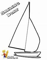 Coloring Boat Pages Sailing Ship Catamaran Template Yescoloring Printable Boats Superb sketch template