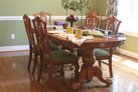 spray painted dining table  chairs hometalk