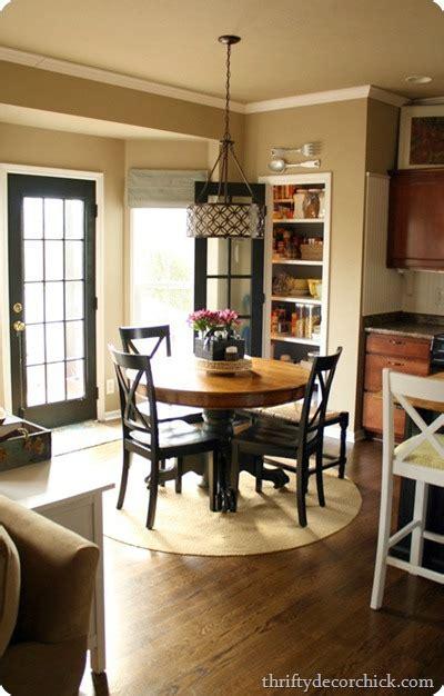 ikea table turned farmhouse table  thrifty decor chick