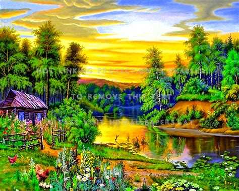 Life In Nature Lovely Hen Forest Trees Home