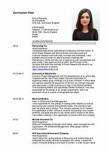 emma richards english cv 2015 With cv in english