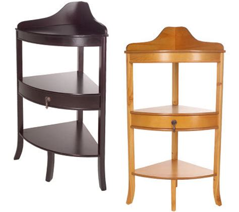 corner accent table thomas pacconi corner accent table with drawer qvc com