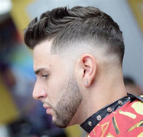 top taper fade haircut  men high   temple