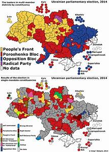 Electoral map of the 2014 Ukrainian Parliamentary Election ...