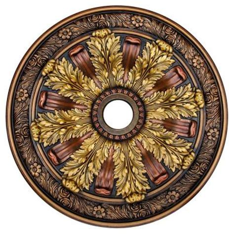 two ceiling medallions cheap deco illusion bronze gold copper 30