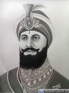 Buy Guru Gobind Singh Ji Pencil Sketch Painting Online
