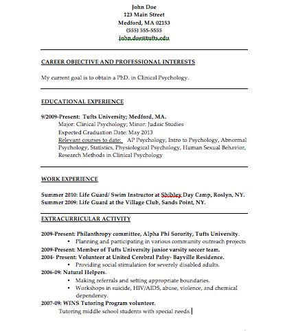stand out resume objectives the psychology of resume building college magazine