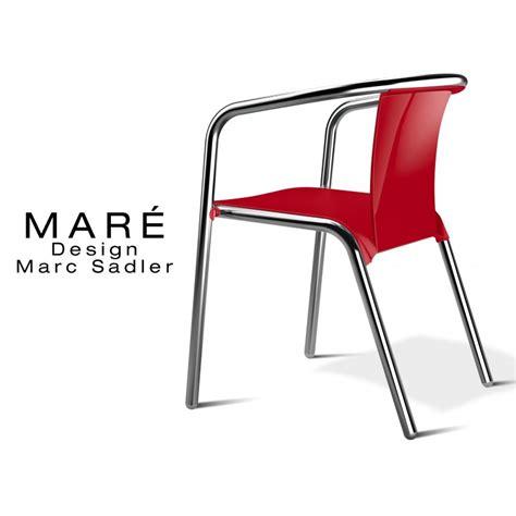 chaise de terrasse chaise pour terrasse de café maré piétement aluminium