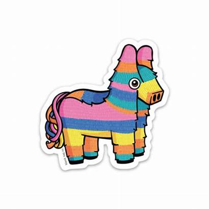Pinata Burro Donkey Blank Tag Cliparts Sticker