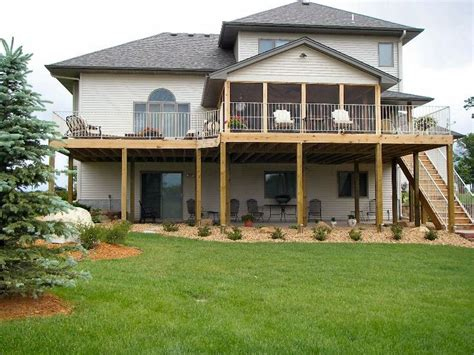 pin  pam sommer    home deck remodel walkout basement patio patio  decks