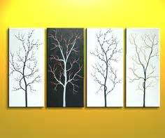 diy canvas wall art vertical home garden With what kind of paint to use on kitchen cabinets for cherry blossom tree wall art