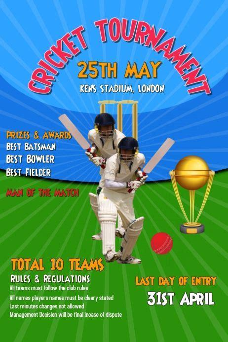 cricket tournament world cup poster social media