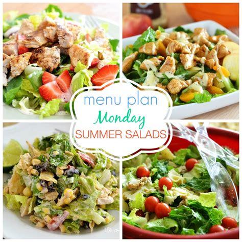 Menu Plan Monday Summer Salads