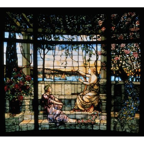 tiffany stained glass l tiffany stained glass window 39 twilight 39 at 1stdibs