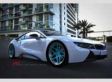 6Sixty Design BMW i8 TuningFelgen mit Finish in Liquid Blue