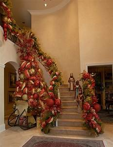 Decorate, The, Staircase, For, Christmas, U2013, 45, Beautiful, Ideas